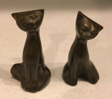 """Pair Of Solid Brass Cats 2 3/4"""""""