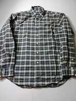 Recent Ralph Lauren Mens Shirt Size M Green Beige Plaid Long Sleeve Button Down