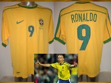 Brazil Brasil Medium RONALDO Vintage Shirt Jersey Soccer 1998 NIKE Football Top