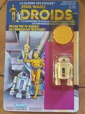 Vintage Star Wars 1985 Droids Pop Up Saber R2-D2 Figure MOC Canadian Packaging