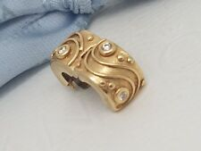 Pandora Genuine 14ct Gold Diamond Flow & Sparkle / Babbling Brook Clip 750418D