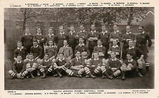 1906 Springboks - South African Rugby Football Team vintage postcard - Rotary