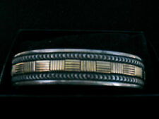 14K Gold Sterling Silver Cuff Bracelet by Bruce Morgan. Navajo Native American