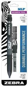 Zebra Pen MLP2 Mechanical Pencil, Bold 0.9mm Lead, Bonus Lead and Erasers