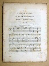 Partition ancienne BOIELDIEU La Dame Blanche - Duo Boulanger / Ponchard c1825