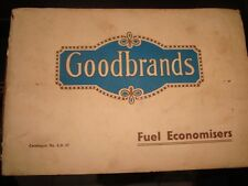 Old Vintage Good Brands Fuel Economizers Catalog from England 1930