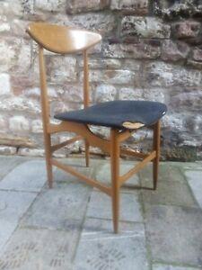 Pair Mid century sculptural teak chairs by HANS Wegner Danish 1950s