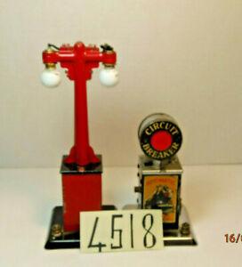 Vintage Marx Street Light &Circuit Breaker,Lighted