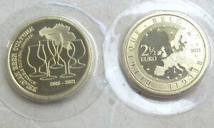 """Belgien 2021 - 2,5 Euro """" Belgische Bierkultur """" aus KMS in FDC"""