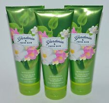 3 BATH & BODY WORKS GARDENIA FRESH RAIN ULTRA SHEA MOISTURE CREAM LOTION 8OZ LOT