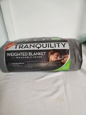 Temperature Balancing Sleeping Weighted Blanket Cover With Washable Cover 15 lbs