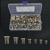 150x Aluminum Rivet Nut Kit Metric Rivnut Nutsert Assort M3 M4 M5 M6 M8 w/Box