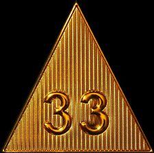 "33rd 33 Degree 3"" FREEMASON Scottish Rite Pyramid Masonic Collar Patch Iron-On"