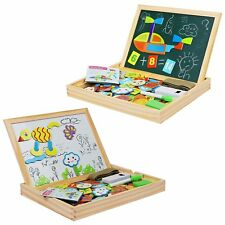Becko Toddler Magnetic Jigsaw Puzzle Board Wooden Educational Toys for Children