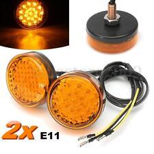 Pair 20LED Motorcycle Bike Round Amber Turn Signal Indicator Blinker Light Lamp