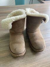 Girls Chestnut Ugg Boots Size 12