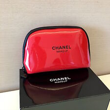 CHANEL BEAUTE RedMakeup Cosmetic Bag Pouch ** New in Box