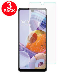 3 PACK For LG Stylo 6 Screen Protector 9H Tempered Glass Premium HD Clear