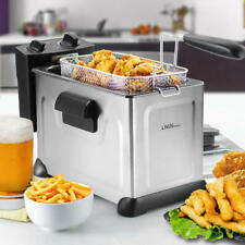 Professional Deep Fryer With Basket, Stainless Steel Oil Fryer, 3.7L,1500W