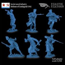 Soviet naval infantry collectible plastic Toy soldier 54mm 1/32