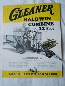 @Gleaner Baldwin Combine 12 Foot Model F Brochure@