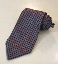 Corneliani Italy Hand Made 100% Silk Check Neck Tie