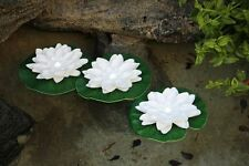 Set of 12 White LED Floating Lily Lights Up In Water White LED