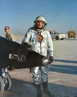 8X10 PHOTO AA-387 AIR FORCE TEST PILOT PETE KNIGHT IN FRONT OF THE X-15A