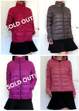 UNIQLO JAPAN Ultra Light Down Jacket S/M WATER DEFENDER Dark Gray/ Baby Pink NWT