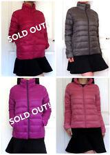 UNIQLO JAPAN Ultra Light Down Jacket S/M WATER DEFENDER Dark Gray/ Baby Pink NWT