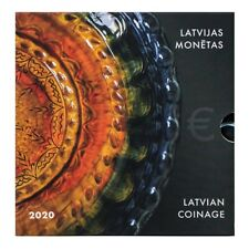 Official set of LATVIA Euro coins 2020 in special folder UNC