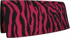 "Showman 32"" x 32"" Reversible Pink Zebra New Zealand Wool Western Saddle Blanket"