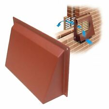"9"" x 6"" Terracotta Hooded Cowl Vent Cover for Air Bricks Grilles Extractors"