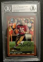 2000 TOPPS HALL OF FAME JOE MONTANA AUTOGRAPH SAN FRANCISCO 49ERS AUTO BGS HOF