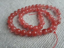 "16"" brin de Cherry Quartz ~ 8 mm ronde ~ Perles"