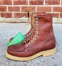 Lehigh Safety Steel Moc Toe Work Brown Leather Boots sz 8 E MENS US NWT!
