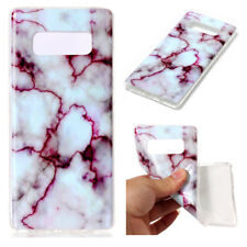 Galaxy Note 8 Case White Marble Design Soft TPU Protective Cover Slim Shockproof
