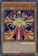 Yugioh 1x LED2-EN002 Illusionist Faceless Magician Rare 1st Ed