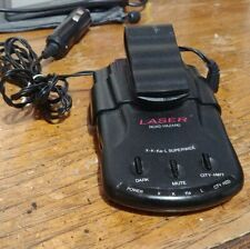 RADIO SHACK RADAR DETECTOR LASER SAFETY ALERT Model: 22-1665 Works Good