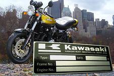 Brand New Kawasaki Z1 Z900 Z1 KZ900 Z1100 Z1000 Z1300 Data Plate ID Tag Frame