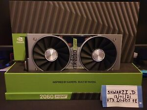 Nvidia GeForce RTX 2060 Super 8GB Founders Edition FE Graphics Card GPU