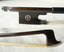 coffee carbon fiber violin bow ebony frog abalone inlay 4/4, light flexibility
