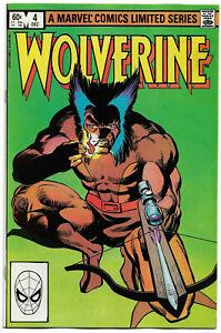 WOLVERINE#4 NM 1982 FRANK MILLER MARVEL BRONZE AGE COMICS
