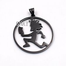 GNAYY TWIZTID ICP Black Stainless steel Large circle Hatchet Man pendant Charms