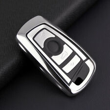 For BMW 1/2/3/4/5/6/7 Series X3/X4/M2/M3 Silver Car Smart Key Cover Case Holder