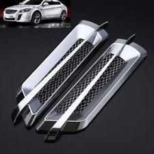 2Pcs Plastic Chrome Car SUV Air Flow Fender Side Vent Decoration Sticker US