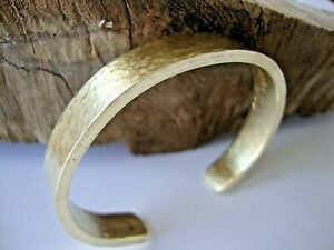 Men's Bracelet Natural Brass Gold Cuff Bangle Bracelet Hammered Work Crafted.