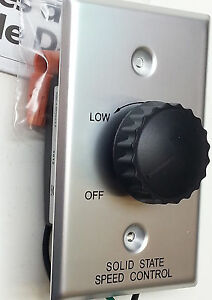 Dayton 1AGU5A hand rotary dial adjustable 120V 3A Speed Control switch complete