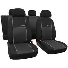 Autositzbezüge für Renault Megane II Cabrio 02-09 5-Sitze Schwarz Schonbezüge