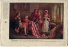 Betsy Ross 1777 by Ferris America Patriotic Flag Ladies Home Journal 1917 07